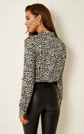 Elsie Black Animal Print Shirt by Frontrow Limited