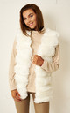 Eleanour Faux Fur Gilet In White by Frontrow Limited