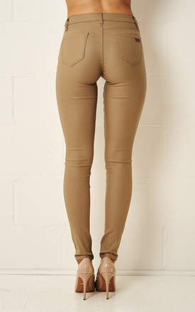 Morgan Camel Wax Coated Jeans by love frontrow