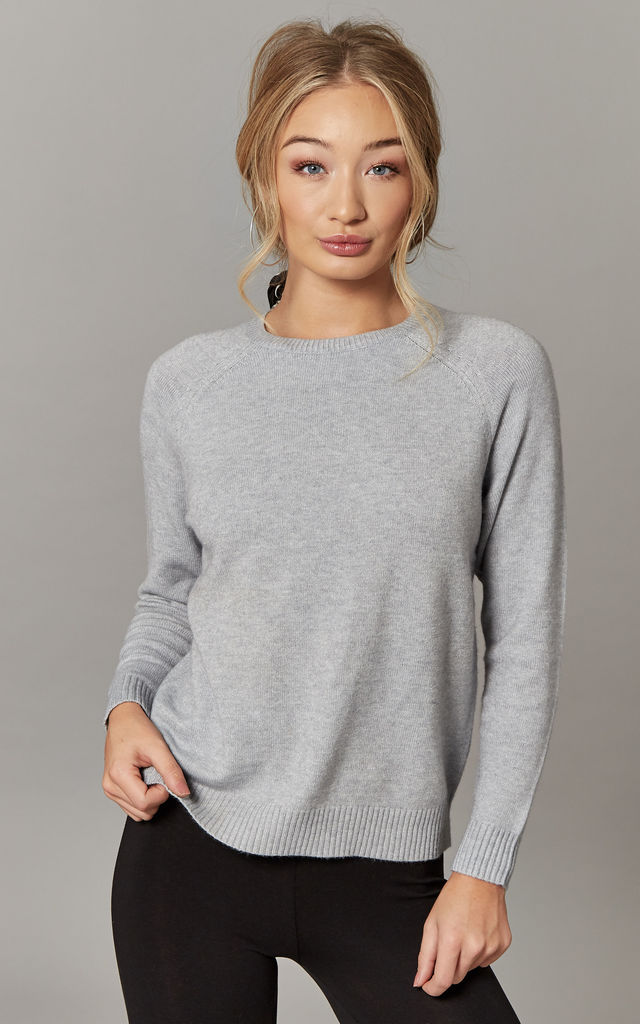 Light Grey Long Sleeve Pullover by ONLY