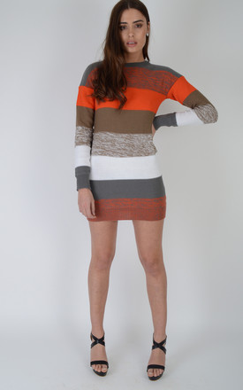 Petite Long Sleeved Short Stripey Jumper Dress by LOVEMYSTYLE