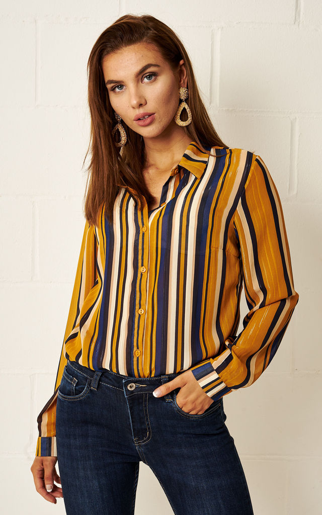 Lydia Multi Colour Striped Shirt by Frontrow Limited