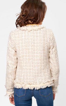 Tweed Blazer in Cream by Marc Angelo