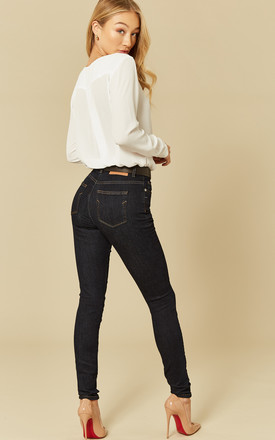 Dark Denim Blue Rinse Skinny Jeans by Selected Femme