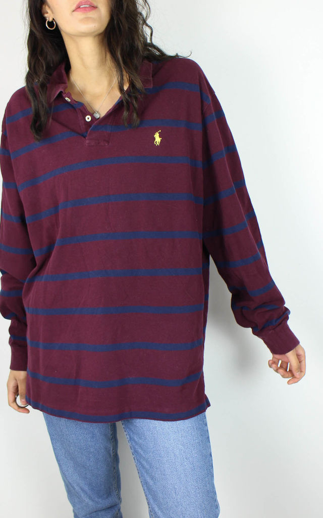 Vintage Polo Ralph Lauren Tshirt Top with Logo Front by Re:dream Vintage