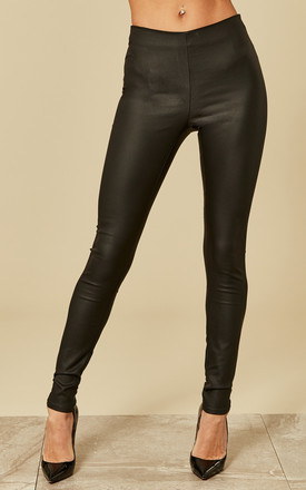 Black Coated Leggings by VILA Product photo