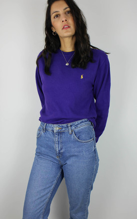 Vintage Ralph Lauren Long Sleeve Top With Logo In Purple by Re:dream Vintage Product photo