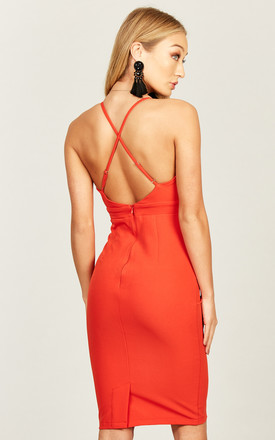 Red Cross Back Dress by Phoenix & Feather Product photo