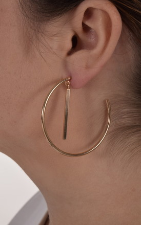 CIRCLE AND STICK DROP HOOP EARRING by EPITOME JEWELLERY