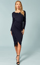 Navy tie waist midi dress by Bella and Blue