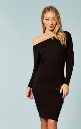 Black Off The Shoulder Dress by Bella and Blue Product photo