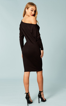 Black off the shoulder dress by Bella and Blue