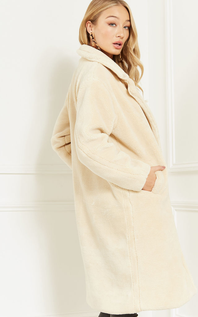 Cream Teddy Coat by Lilah Rose