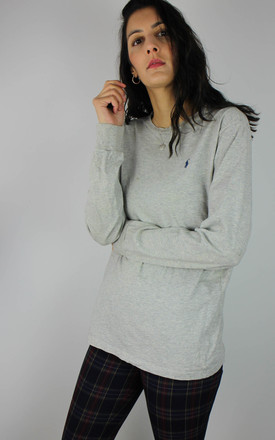 Vintage Ralph Lauren Top With Long Sleeves In Light Grey by Re:dream Vintage Product photo