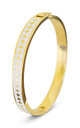 Diamond Enamel Bangle For Her (WHITE) by Florence London