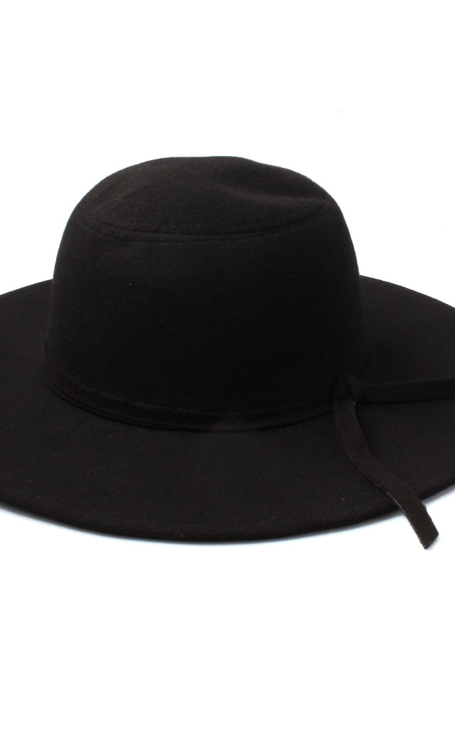 ... Black Floppy Fedora Hat with Knotted Band by Accessory O 816b1c3c81e3