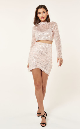 SEQUIN HIGH NECK TOP by The Girlcode
