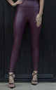Tilly Wine Red Pvc Leggings by Giorgi London
