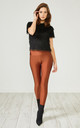 Rust Red Glitter Leggings by URBAN TOUCH
