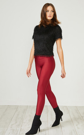 Red Glitter Leggings by URBAN TOUCH