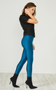 Teal Glitter Leggings by URBAN TOUCH