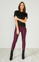 Burgundy Glitter Leggings by URBAN TOUCH