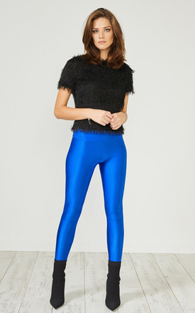 Blue Glitter Leggings by URBAN TOUCH