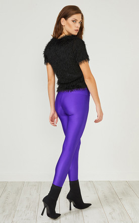 Purple Glitter Leggings by URBAN TOUCH