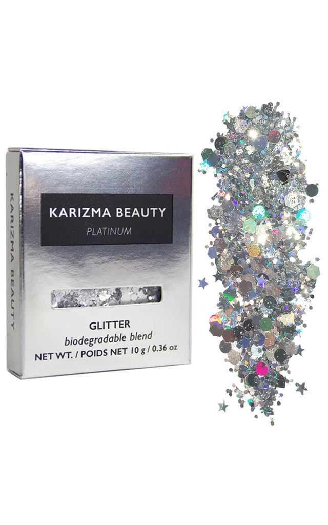 Platinum Biodegradable Glitter Silver Chunky by Karizma