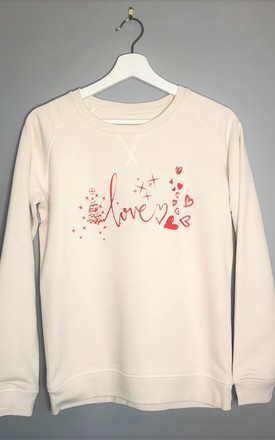 Love Vintage White Christmas Jumper by Wear One