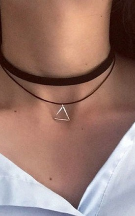 Double Layer Triangle Choker Necklace by HAUS OF DECK
