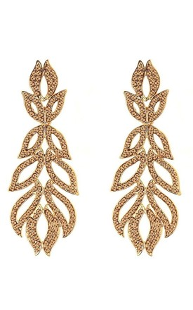 Gold Jewelled Drop Statement Earrings by Olivia Divine Jewellery Product photo