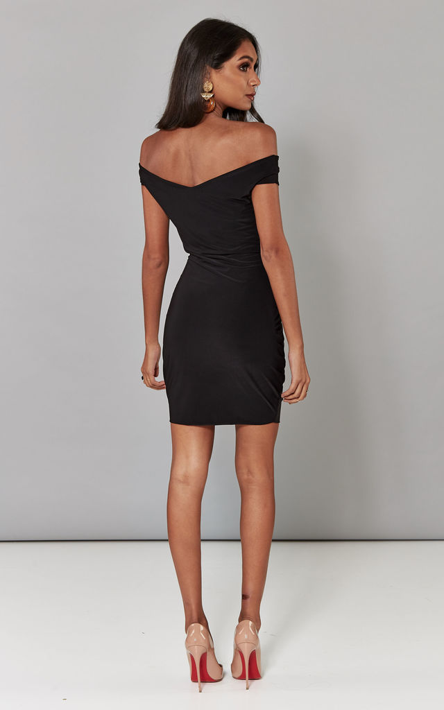 Black sweetheart neck dress by Pleat Boutique