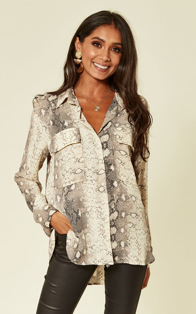 Laura Snakeskin Shirt by Foreva Young