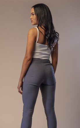 Ego Pin-Tuck D-Ring Trouser Grey by Me-Me
