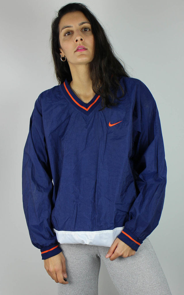 Vintage Nike Nylon Sweatshirt with Tick Logo Front & Back by Re:dream Vintage