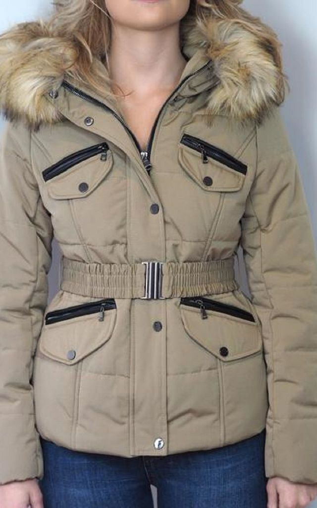 Natural Faux Fur Parka by Style Mode