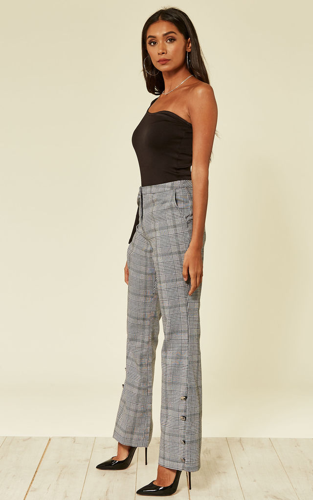 Tailored Check High Rise Trouser by UNIQUE21