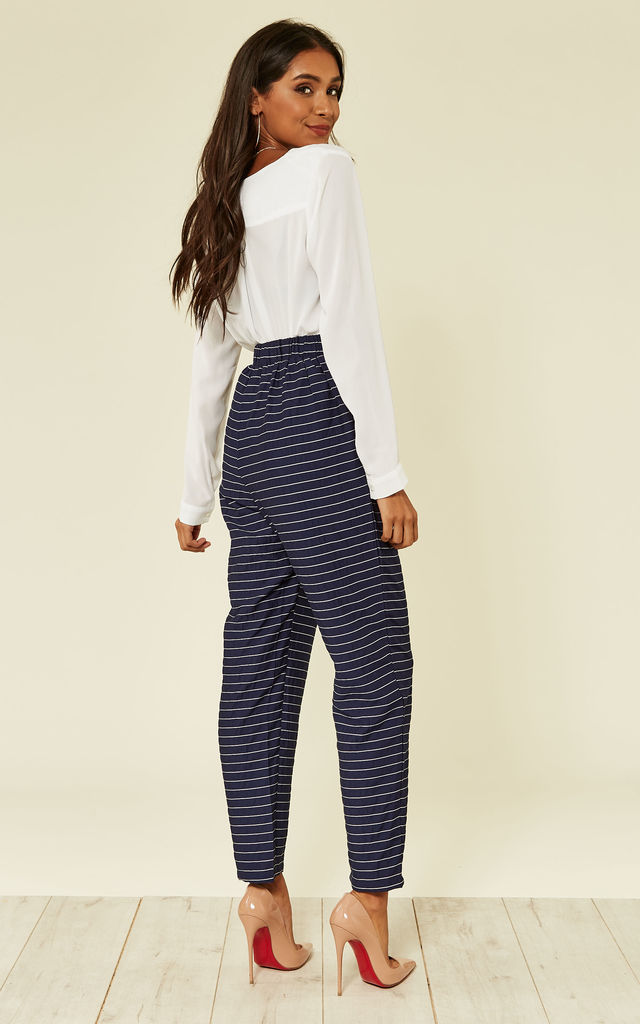 High waist pinstripe trousers by Oeuvre