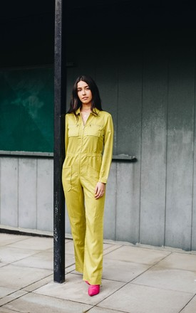Green Long Sleeved Boiler Suit by stuffwithprints