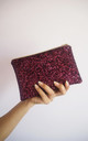 Glitter Makeup Bag in Plum by Suki Sabur Designs