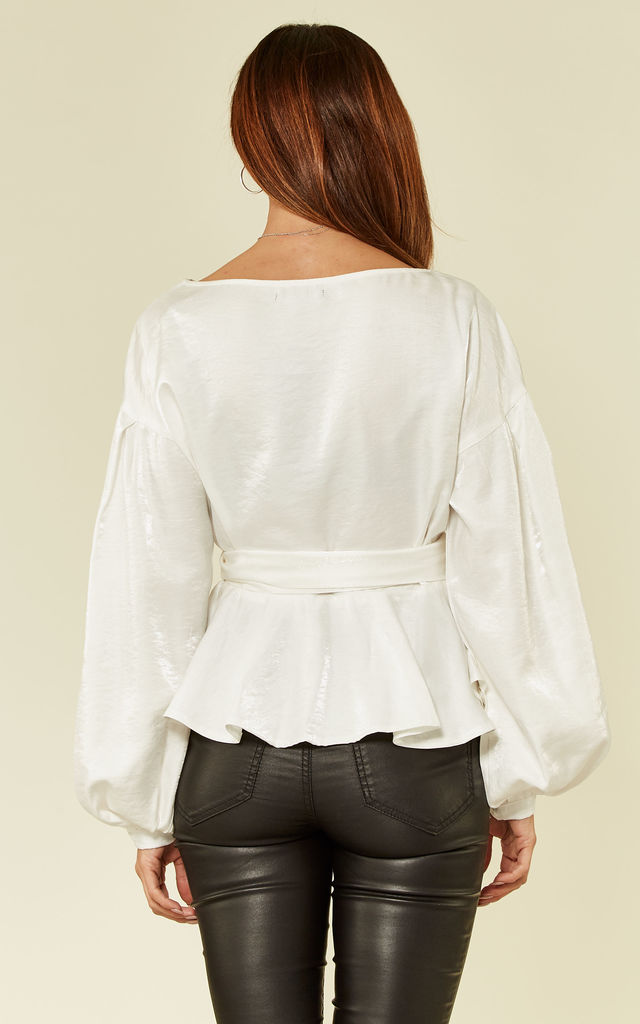 White Wrap over Blouse by Oeuvre