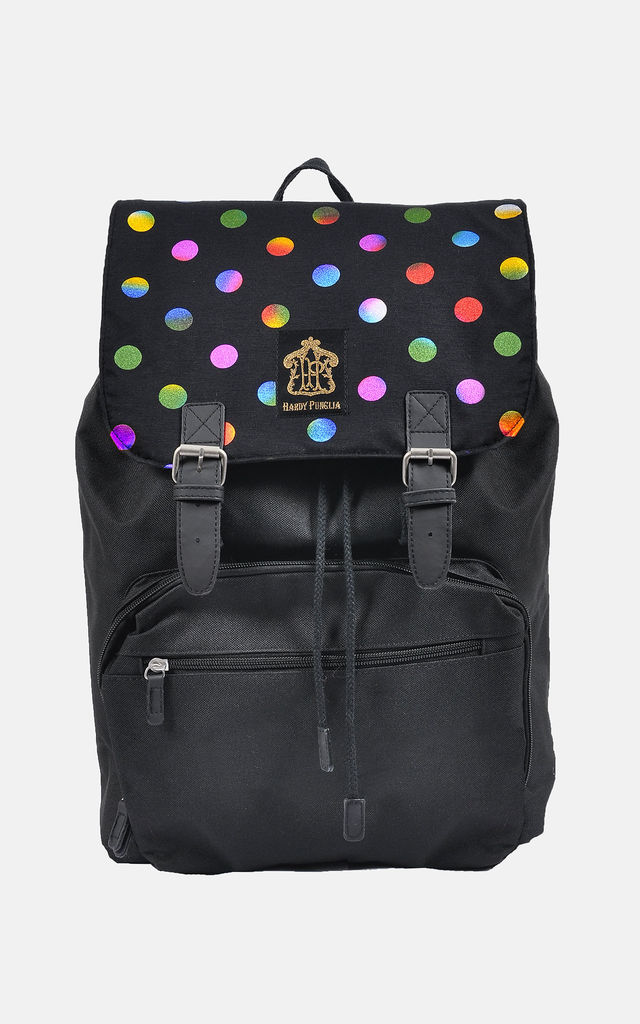 STUNNING colourful Ombre polka dot laptop backpack by The Left Bank
