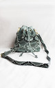 Grey Snake Print Bucket Bag by Candypants
