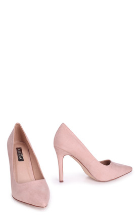 Colette Nude Suede Classic Court Shoe with Stiletto Heel by Linzi
