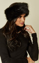 Morzine Faux Fur Black Headband by Faux England