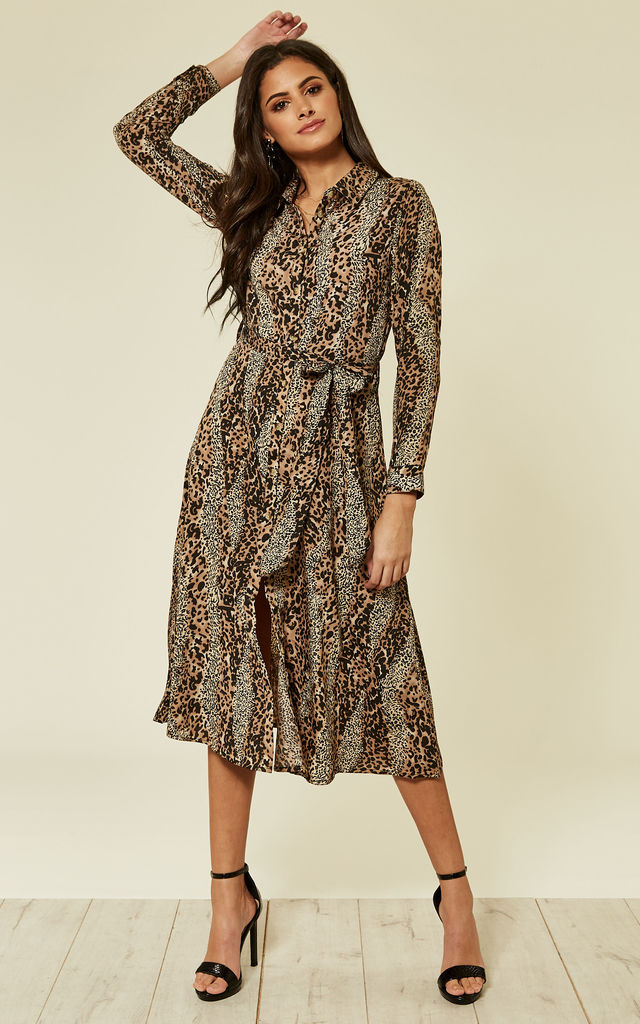 d3560bcf8 Leopard Print Midi Shirt Dress | Clothes Minded | SilkFred