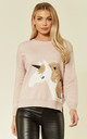 Jumper with Sequin Embellished Unicorn in Pink by CY Boutique