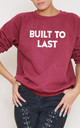 Built to Last Slogan Burgundy Oversized Sweater (Variant) by Top Threads