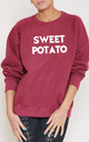 Sweet Potato Slogan Burgundy Oversized Sweater (Variant) by Top Threads